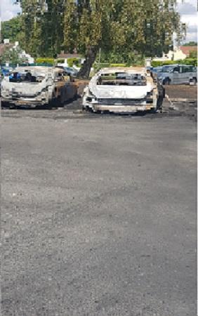 Nettoyage après incendie de voiture